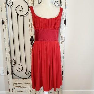 Suzi Chin red sleeveless dress size 14